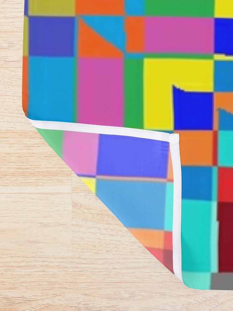 Alternate view of Trippy Vertical Colored Squares Shower Curtain