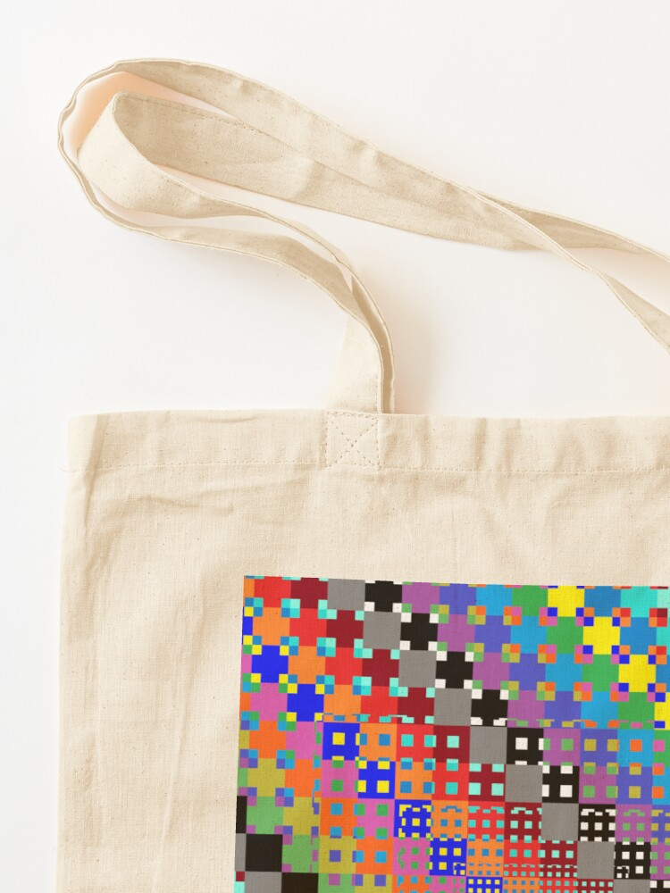 Alternate view of Trippy Colored Squares Tote Bag