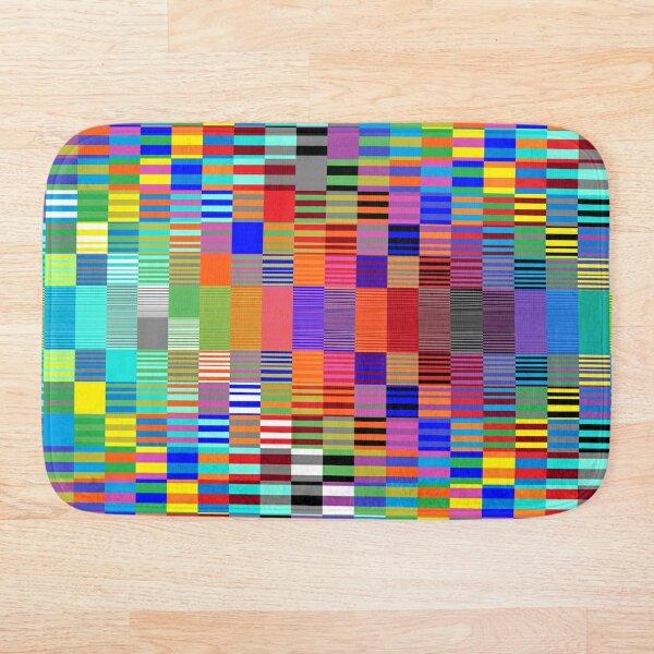 Trippy Vertical Colored Squares Bath Mat