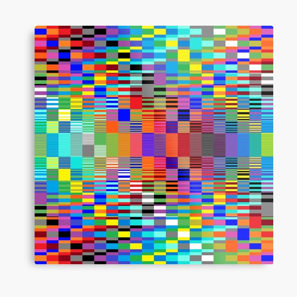 Trippy Vertical Colored Squares Metal Print