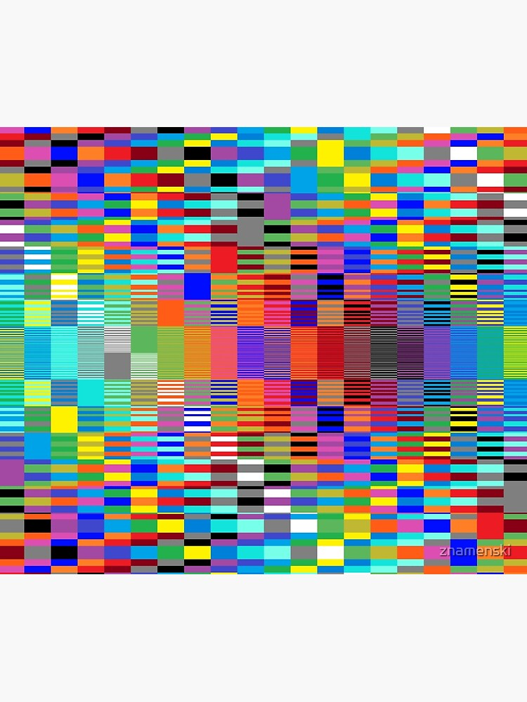 Trippy Vertical Colored Squares by znamenski