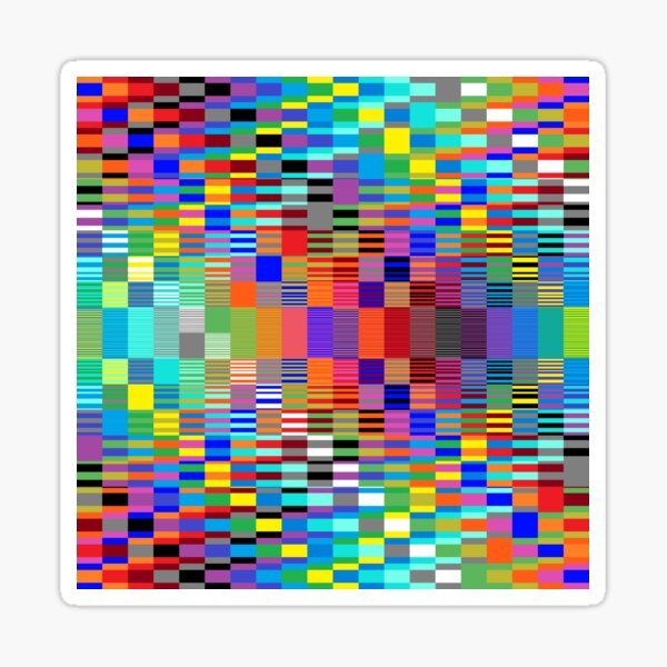 Trippy Vertical Colored Squares Sticker