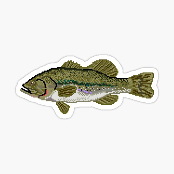 Pixel Largemouth Bass Sticker