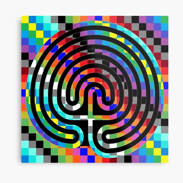 Trippy Colors Metal Print