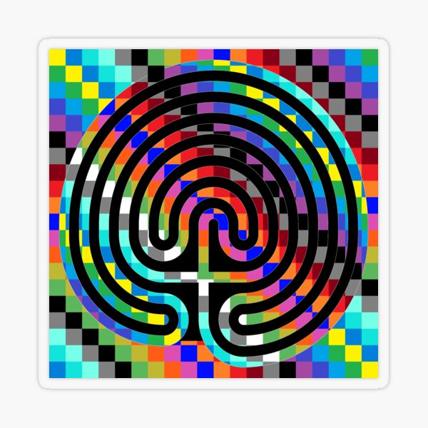 Trippy Colors Transparent Sticker