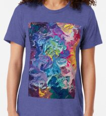 Rainbow Flow Abstraction Tri-blend T-Shirt