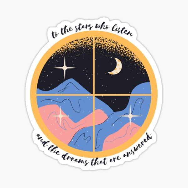 stars and dreams window Sticker