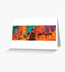 I live in the city Greeting Card