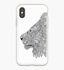 Lion doodle silhouette  iPhone Case