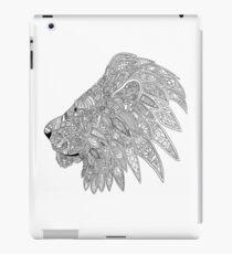 Lion doodle silhouette  iPad Case/Skin