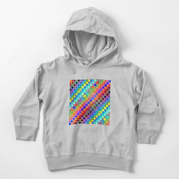 Trippy Colored Squares Toddler Pullover Hoodie