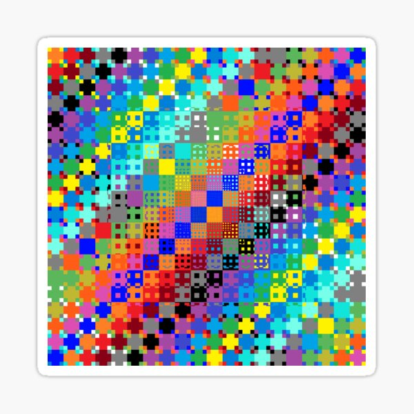 Trippy Colored Squares Sticker