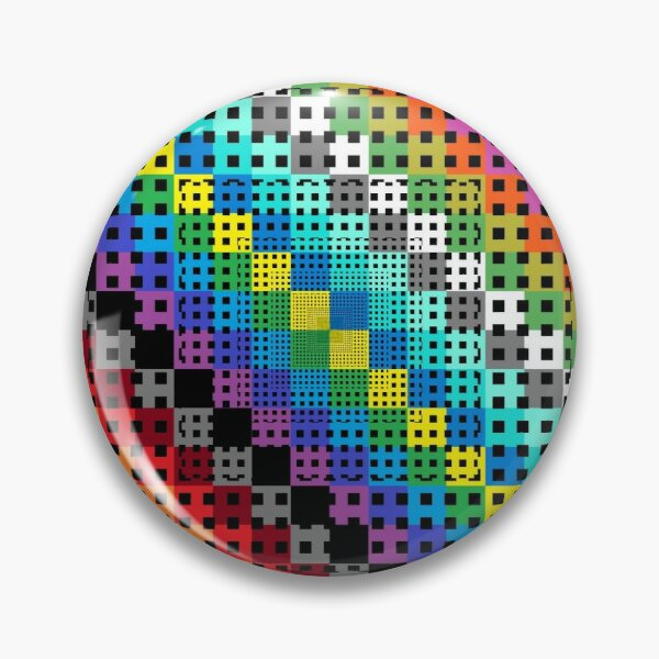 Trippy Colors Pin