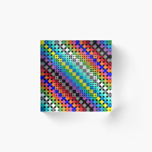 Trippy Colors Acrylic Block