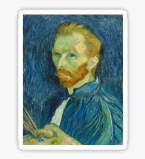 Take a walk, do like Van Gogh  Sticker