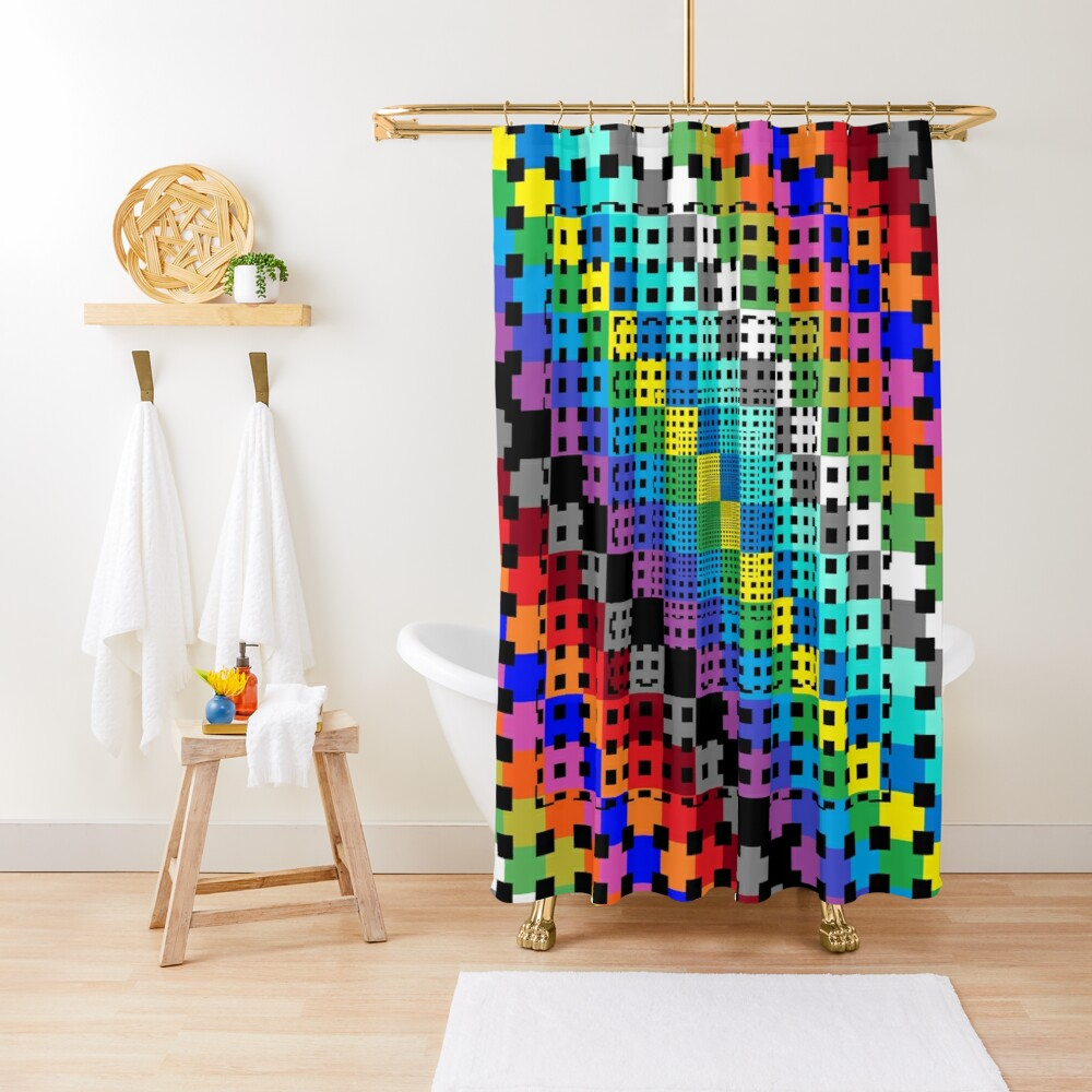 Trippy Colors Shower Curtain