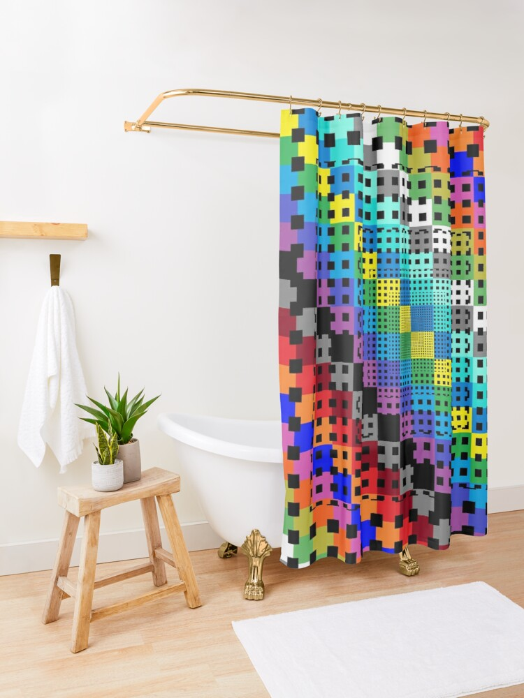 Alternate view of Trippy Colors Shower Curtain