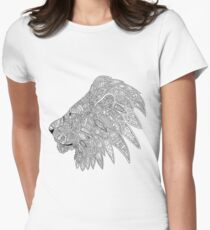 Lion doodle silhouette  Women's Fitted T-Shirt