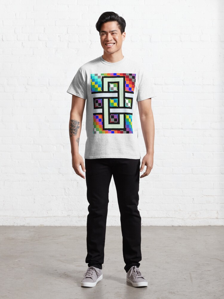 Alternate view of Trippy Cheese Colors Classic T-Shirt