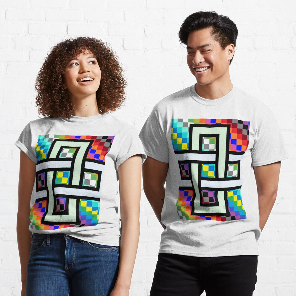 Trippy Cheese Colors Classic T-Shirt