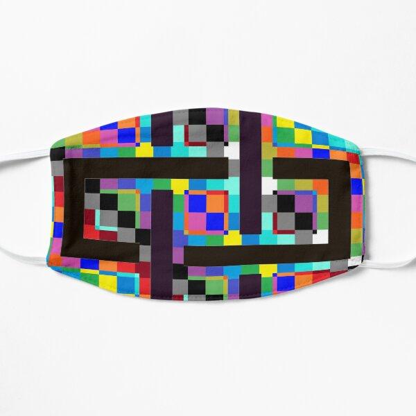 Trippy Vertical Colors Flat Mask