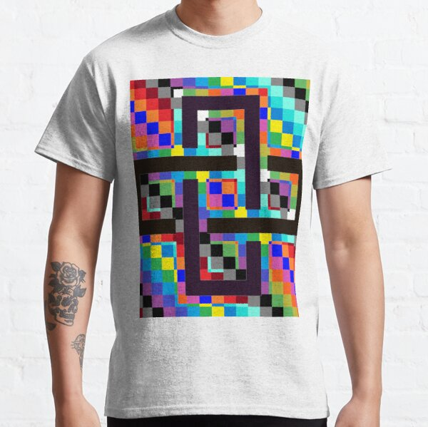 Trippy Vertical Colors Classic T-Shirt