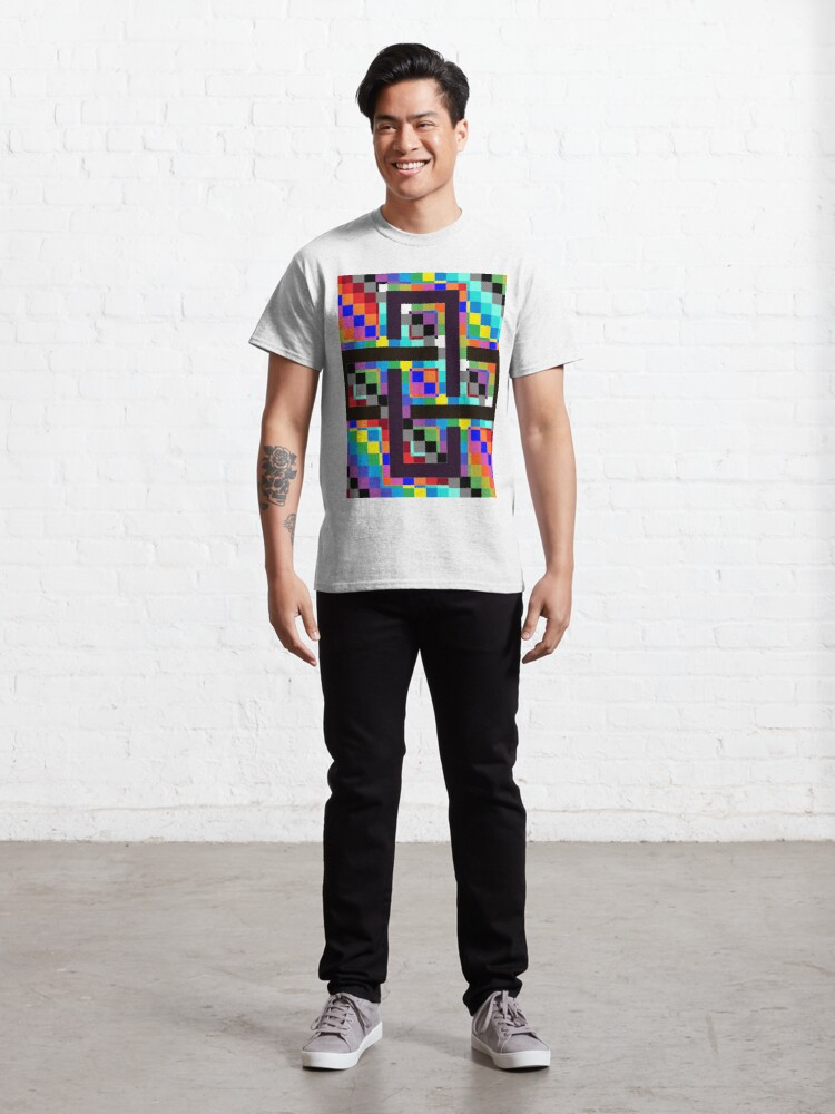 Alternate view of Trippy Vertical Colors Classic T-Shirt