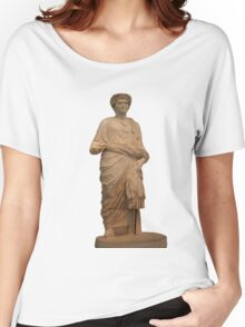 Statue of A Roman Priest Wearing A Toga Women's Relaxed Fit T-Shirt