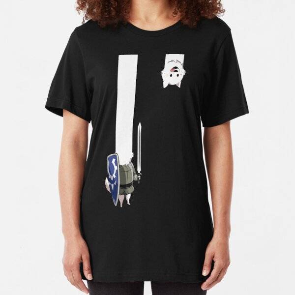 Undertale Lesser dog Slim Fit T-Shirt