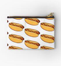 Hotdog Sausage and Buns Ketchup Mustard Classic Hot Dog Yummy Art Studio Pouch