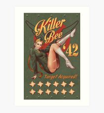 Killer Bee Pin Up Art Print