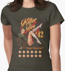 Killer Bee Pin Up Women's Fitted T-Shirt