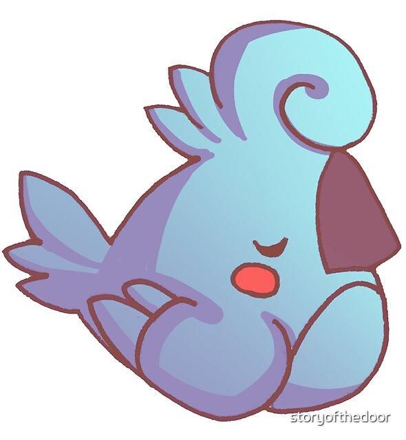 Rude Cockatiel Bird 5 - Snooty Nap Time by storyofthedoor