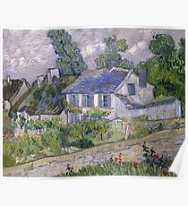 Vincent Van Gogh - Houses at Auvers, December 1885 - February 1886 Poster