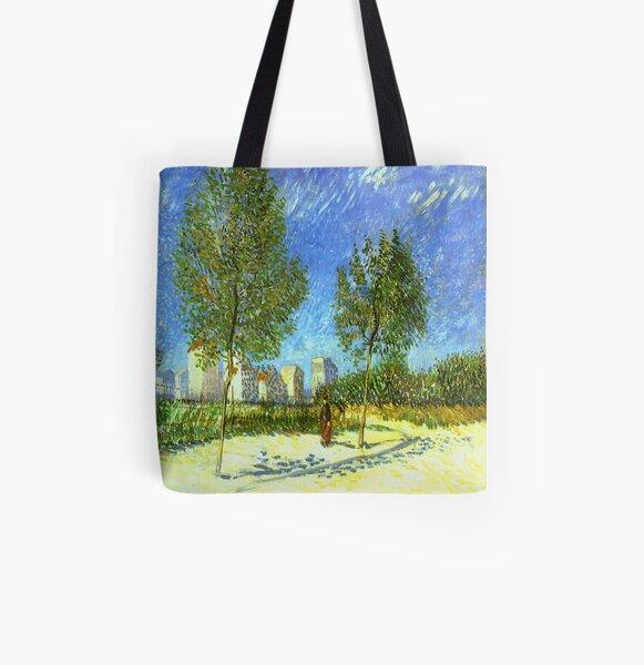 Chestnut Tree in Blossom by Vincent Van Gogh Laptop Shoulder Bag