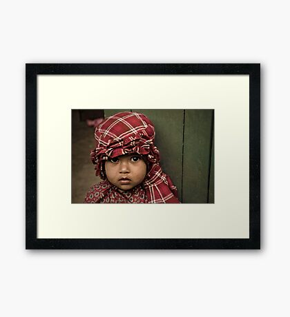 Red Cap Framed Print