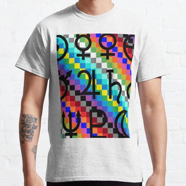 Trippy Vertical Colors Classic T-Shirt
