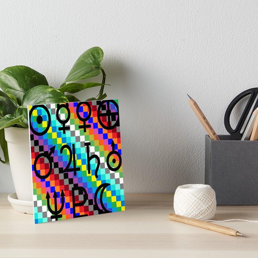 Trippy Vertical Colors Art Board Print