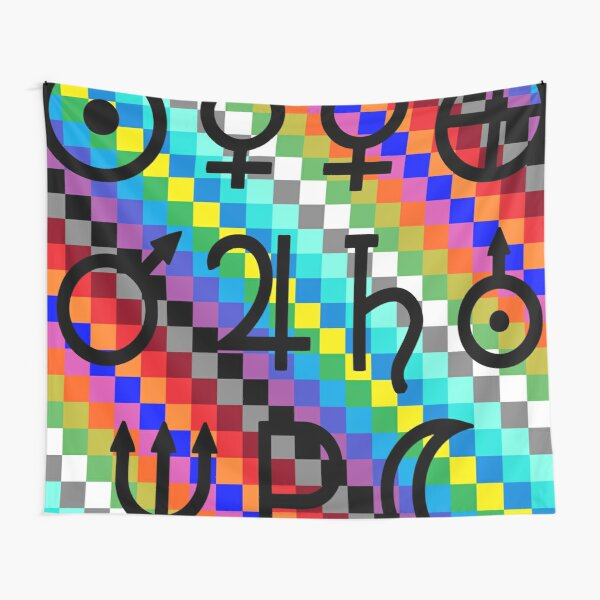 Trippy Vertical Colors Tapestry