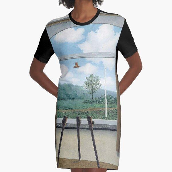 The Human Condition(La condition humaine)-René Magritte Graphic T-Shirt Dress