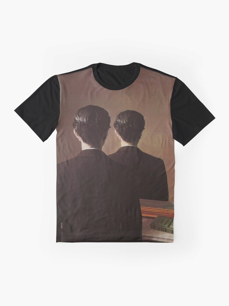 Alternate view of Not to Be Reproduced(La reproduction interdite)-René Magritte Graphic T-Shirt