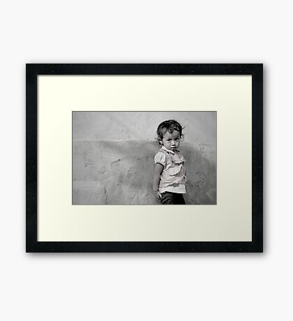 Little Face in Tansen Framed Print