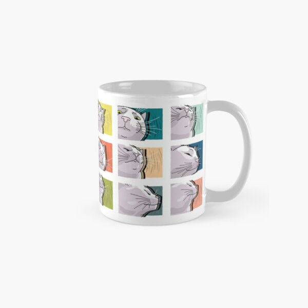 Cat Vibing Meme / CatJAM - Cat Vibing to Music (Color) Classic Mug