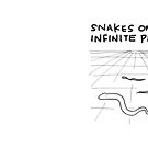 """Snakes on an Infinite Plane"" HAHAHA! by Kenneth Molnar"