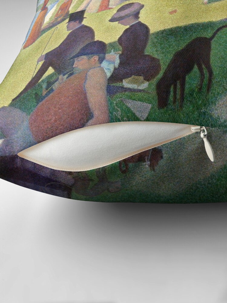 A Sunday Afternoon On The Island Of La Grande Jatte Georges Seurat Throw Pillow By Lexbauer Redbubble