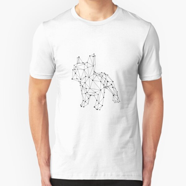 Simple Cute Little French bulldog constellations Slim Fit T-Shirt