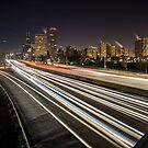 Chicago's Lake Shore Drive one  night by Sven Brogren