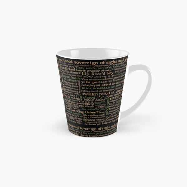 Shakespeare Insults Dark - Revised Edition (by incognita) Tall Mug