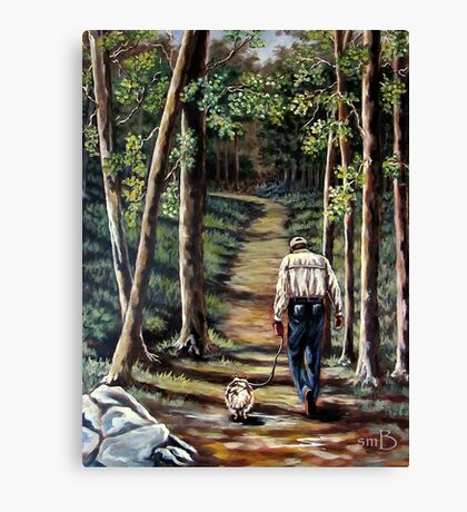 Walking With My Friend Canvas Print