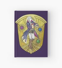 Stained Glass Female Robin Hardcover Journal